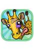 模拟长颈鹿玩冬季运动